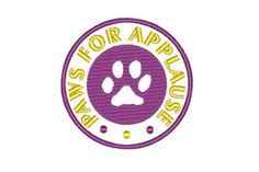 Paws for Applause is a circular design celebrating dogs. It has a dog print in the center with text surrounding.... Sparkler Photography, Animal Quotes, Teaching Materials, Photography Tutorials, Paper Size, Machine Embroidery Designs, Word Search, Improve Yourself, Dots