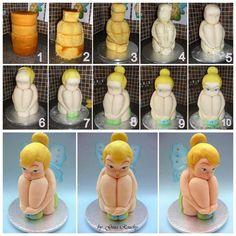 Tinkerbell tutorial cake