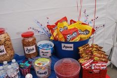 cute idea for the snacks at a baseball birthday party