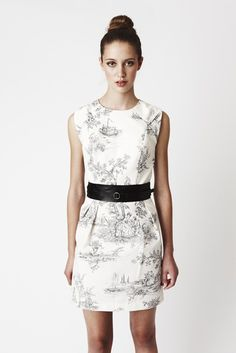 SALE  25 OFF Toile Ivy Dress  Above knee by threelittleducksaust, $150.00