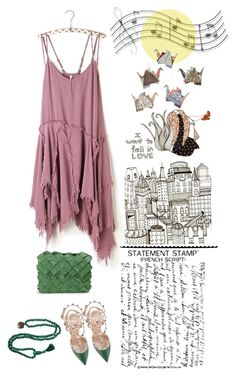 """""""Fall in Love"""" by juliehalloran ❤ liked on Polyvore featuring Valfré, Free People, Valentino, Clemsa and Music Notes"""