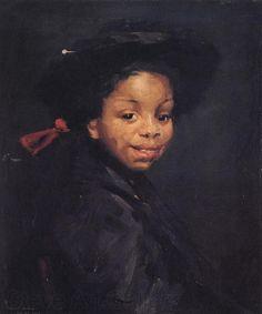 Robert Henri, American painter (1865-1929). 'Eva Green' (c.1907)