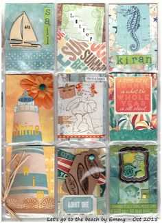 "Let's go to the beach pocket letter - Thème ""plage"" by Emmy - Pretty Little Things"