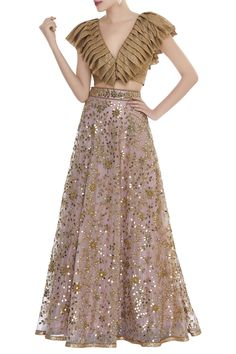 Buy Mirror work lehenga with structured blouse by Seema Khan at Aza Fashions Modern Blouse Designs, Simple Kurti Designs, Stylish Blouse Design, Indian Designer Outfits, Designer Dresses, Lehnga Dress, Lehenga Skirt, Lengha Blouse Designs, Mirror Work Lehenga