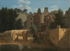 """""""View in the Île-de-France,"""" about 1810 - 1813, Jean-Victor Bertin. Oil on canvas."""