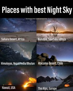 Places with best night sky