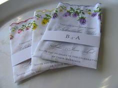 28 Floral Handkerchief Wedding Invitations