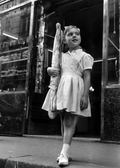 Uncredited Photographer Girl with Baguette, Paris 1961