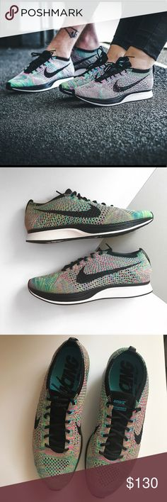 Nike Flyknit Racer Multicolor Brand new with the box but no lid . Men's size 8.5 which is women size 10 Nike Shoes Athletic Shoes