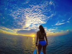 GoProGirl @elebreakstone enjoying the beautiful sunset in Miami. #GoPro #GoProGirl #sunset #miami #florida