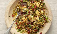 Yotam Ottolenghi's cauliflower, pomegranate and pistachio salad
