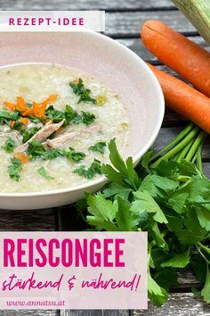 Heute hab ich ein wundervolles Reiscongee für dich. Congee Rezepte sind super einfach und können vielseitig sind. In der TCM stärkt das Congee deine Mitte und nährt dich auf allen Ebenen. #reiscongee #tcm #tcmrezepte #tcmernährungrezepte #congee #congeerezepte Tricks, Paleo, Metabolic Diet, Healthy Life, Super Simple, Recipes Dinner, Healthy Food, Eat Lunch, Beach Wrap