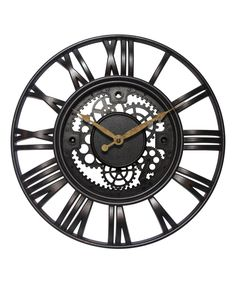 Another great find on #zulily! Roman Gear Wall Clock by Infinity Instruments #zulilyfinds