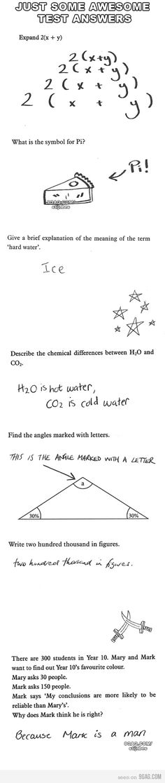 Super funny things kids say on tests hilarious ideas Funny Exam Answers, Funniest Kid Test Answers, Kids Test Answers, Funny School Answers, Math Answers, Funny Books For Kids, Funny Quotes For Teens, Funny Kids, New Funny Memes