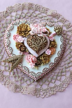 Julia M Usher, Recipes for a Sweet Life, embossed cookie heart, Valentine's Day cookies, heart cookies