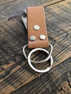Keyring and Bottle Opener Leather Keyring, Handmade Leather, Bottle Opener, Hardware, Stainless Steel, Jewelry, Jewlery, Jewerly, Schmuck