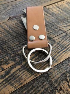 Keyring and Bottle Opener Leather Keyring, Handmade Leather, Bottle Opener, Hardware, Stainless Steel, Bracelets, Jewelry, Key Bottle Opener, Bangle Bracelets