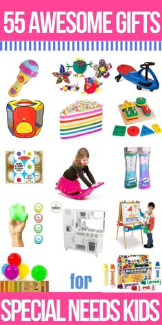 Looking for the best toys for kids with special needs like autism, fine and gross motor delay, learning disabilities, anxiety, ASD, and SPD? Well, look no more! I've got a list of 55 best toys for children with special needs to promote speech, fine and gross motor skills, and social interaction. And sensory seekers, too! Perfect for building language for verbal delays, strengthening muscles for motor skills like handwriting, and fun toys they'll love this Christmas!