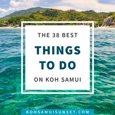 Things to do on Koh Samui: 38 Extraordinary Koh Samui Activities – 38 popular activities: Samui spas and massages, the best shopping, food & drink, sports, surprises and your ultimate list of free things to do on Koh Samui. Click through to read more: http://www.kohsamuisunset.com/things-to-do-koh-samui/
