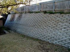 Concrete Fence Wall Retaining Walls Diy Planters Bags