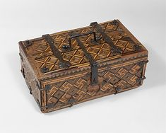 Coffret Date: 1325–50 Geography: Made in Upper Rhineland, Germany Culture: German Medium: Oak, inlay, and tempera; wrought-iron mounts