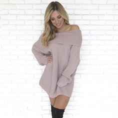 15b8ffea5f6 Bundle Me Up Knit Sweater Dress - Dainty Hooligan Boutique Grey Sweater  Dress
