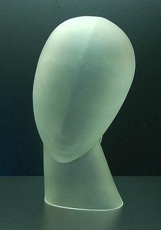 Hollow blown satin girl's head, design Lucienne Bloch 1929, execution by Leerdam / Holland