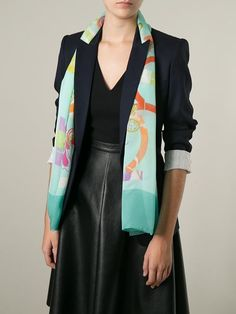 Shop Salvatore Ferragamo Gancini and butterfly print scarf in Stefania Mode from the world's best independent boutiques at farfetch.com. Over 1000 designers from 300 boutiques in one website.