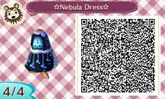 """cm-in: """" Nebula Dress made by me! I hope you like it~ I've always wanted something galaxy themed but with a hint of the sea as well, so out came this. This was my first time making designs on Animal..."""