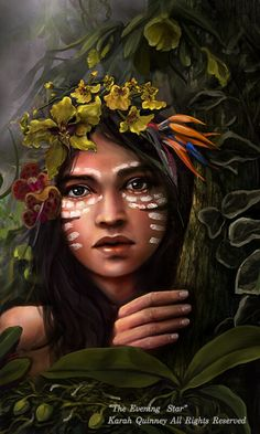 Chalchiuhtlicue is the Aztec Goddess of running water and springs, rivers and lakes, who brings fertility to crops.