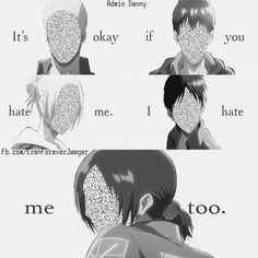It's okay if you hate me. I hate me too. | Reiner, Bertholt, Annie, Eren & Ymir | Attack on Titan