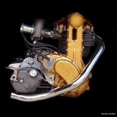 NO 11: CLASSIC AJS 7R MOTORCYCLE ENGINE by Gordon Calder
