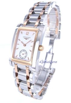 Longines women Dolce Vita watch L5.502.5.18.7. stainless steel and 18 kt rose gold
