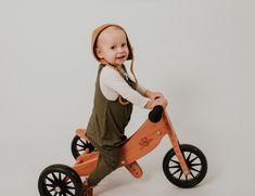 Bamboo baby and kids wear in the softest and comfiest outfits. We also stock kinderfeet two in one bikes. Baby Bamboo, Organic Baby Clothes, Kids Store, Tricycle, Baby Wearing, Kids Wear, Horns, Halo, Baby Kids