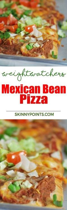 Mexican Bean Pizza with only 5 weight wathcers Smart points