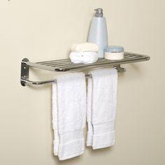 Zenith E9005SS Hotel Style Towel Shelf and Towel Bar - E9005SS