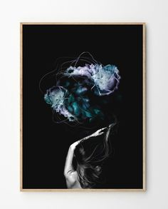 """Olivia"", the colors in this print is beyond beautiful. Created by Norwegian artist Linn Wold. Limited edition, signed and numbered. Digital Drawing Pen, Art Posters, Scandinavian Design, Shapes, Art Prints, Drawings, Colors, Illustration, Artist"