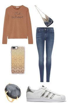 """Untitled #327"" by katiestjean on Polyvore featuring Lingua Franca, 7 For All Mankind, NOVICA, adidas Originals, Casetify and Ippolita"