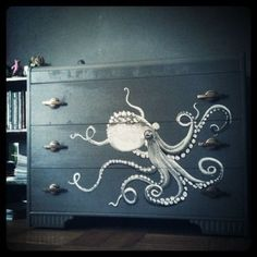 Octopus Dresser , Nautical Home Decor