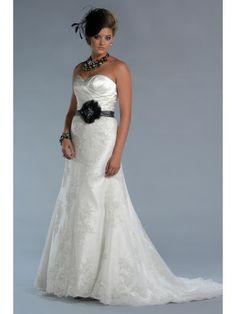 Satin Asymmetric Sweetheart Overlay Bodice A-line Wedding Dress