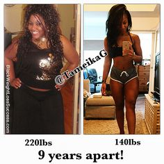 Her initial transformation took 9 months and she's kept the weight off for 9 years. After being overweight her entire life, she lost the weight by eating clean and training hard.