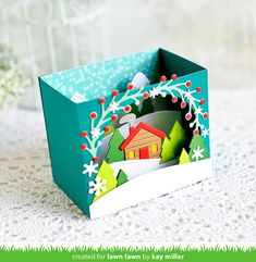 My Joyful Moments: Lawn Fawn Inspiration Week: Shadow Box Mountain Add-on Handmade Headbands, Handmade Crafts, Handmade Rugs, Tarjetas Pop Up, Lawn Fawn Blog, Karten Diy, Pop Up Box Cards, Lawn Fawn Stamps, Interactive Cards