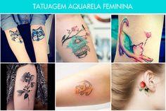 Tatuagem aquarela feminina: veja ideias e inspirações!