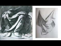 Art Shima - Как Рисовать Драпировку карандашом / Учимся Рисовать Складки Ткани. Часть 1