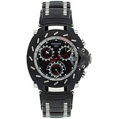 @Overstock - Tissot watch is designed with a brilliant black PVD stainless steel case and braceletMen's watch showcases a patterned carbon fiber dial with luminous silvertone handsTimepiece will make an excellent addition to any wardrobehttp://www.overstock.com/Jewelry-Watches/Tissot-Mens-T-Race-Black-PVD-Stainless-Steel-Watch/4305268/product.html?CID=214117 $449.99
