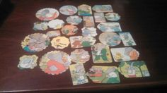 Babar the elephant scrapbooking die cuts tags from by amylaugh, $6.95
