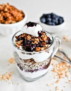Roasted Blueberry Coconut Quinoa Parfait with Coconut Granola -- sounds delicious!