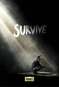 AMC has released a new poster for 'The Walking Dead' season five featuring Andrew Lincoln as Rick Grimes with a single word: 'Survive. Walking Dead Season, The Walking Dead Saison, Carl The Walking Dead, The Walk Dead, Rick Grimes, The Walking Dead Wallpapers, Gotham, Evil Dead, Poster