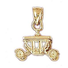 14K GOLD CHARM - CARRIAGE #4325