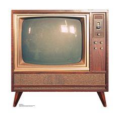 Vintage TV Life Size Cardboard Standup